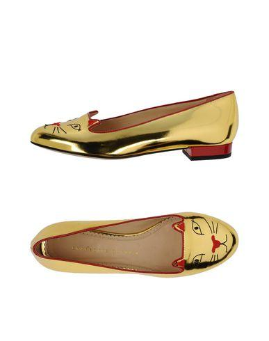 Charlotte Olympia Loafers In Gold