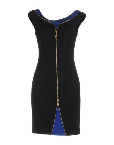 Versace Short Dresses In Dark Blue