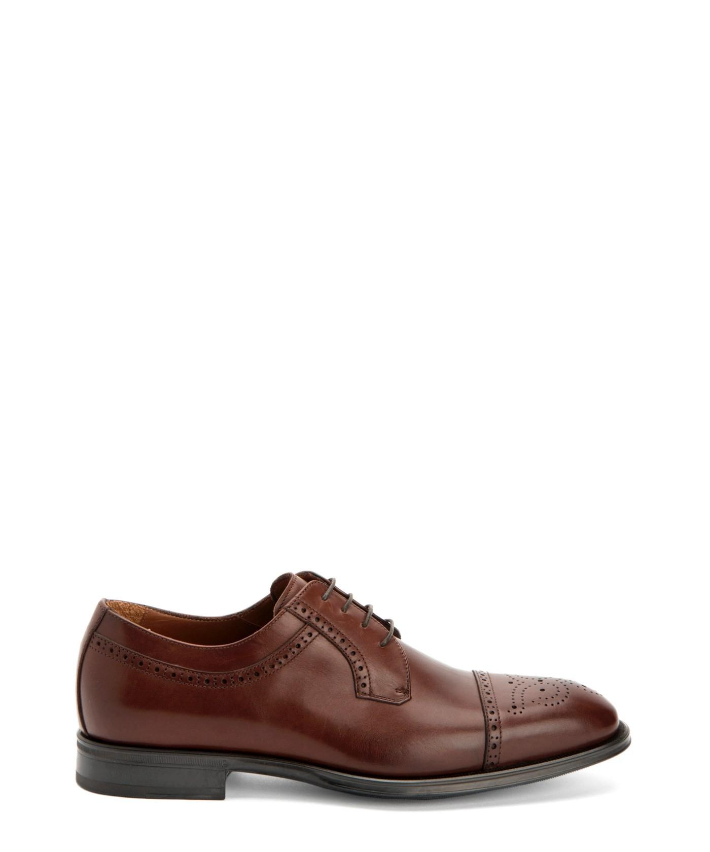 Aquatalia Duke Leather Derbys In Burnished