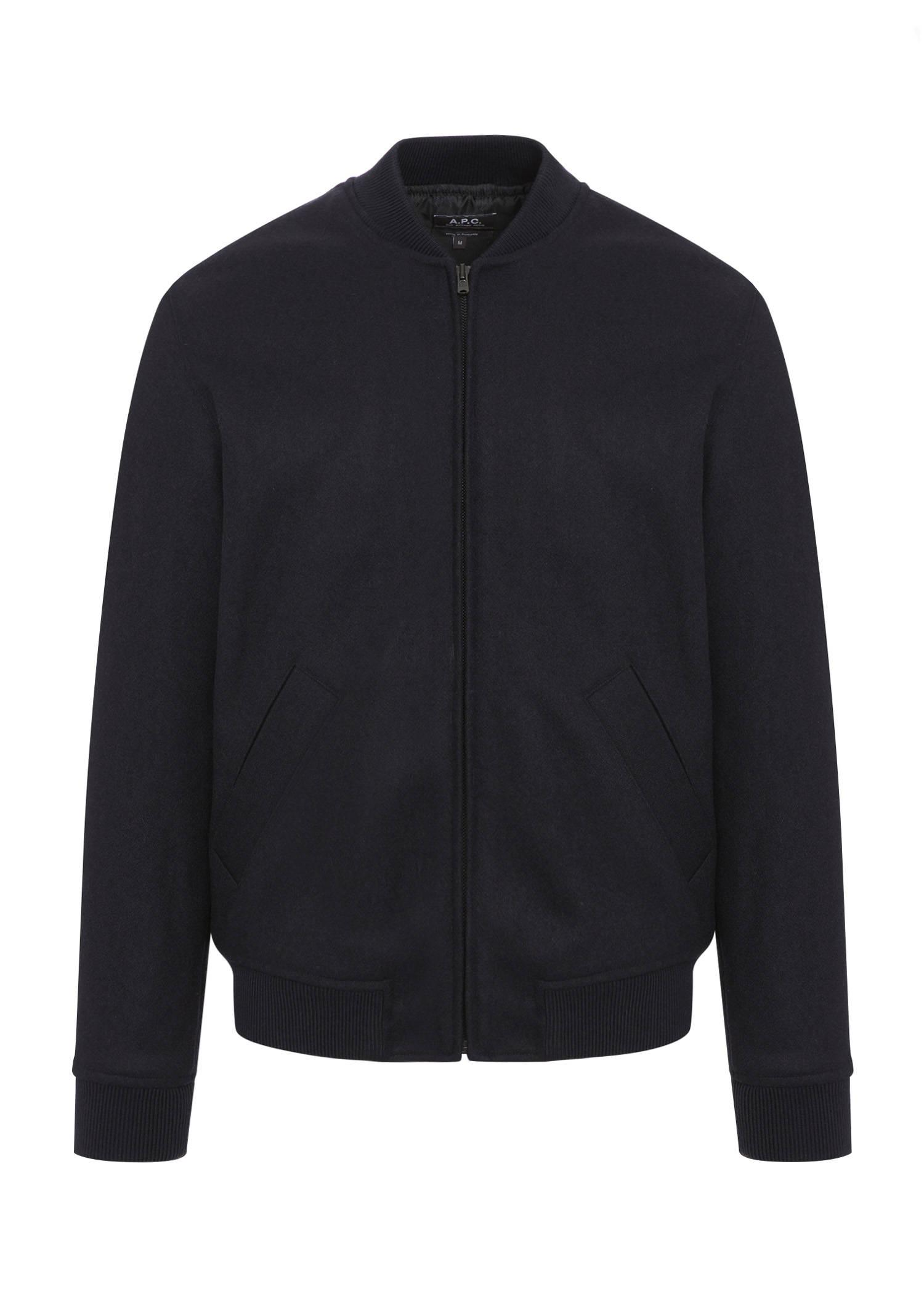 A.P.C. Gaston Jacket In Heathered Navy Blue
