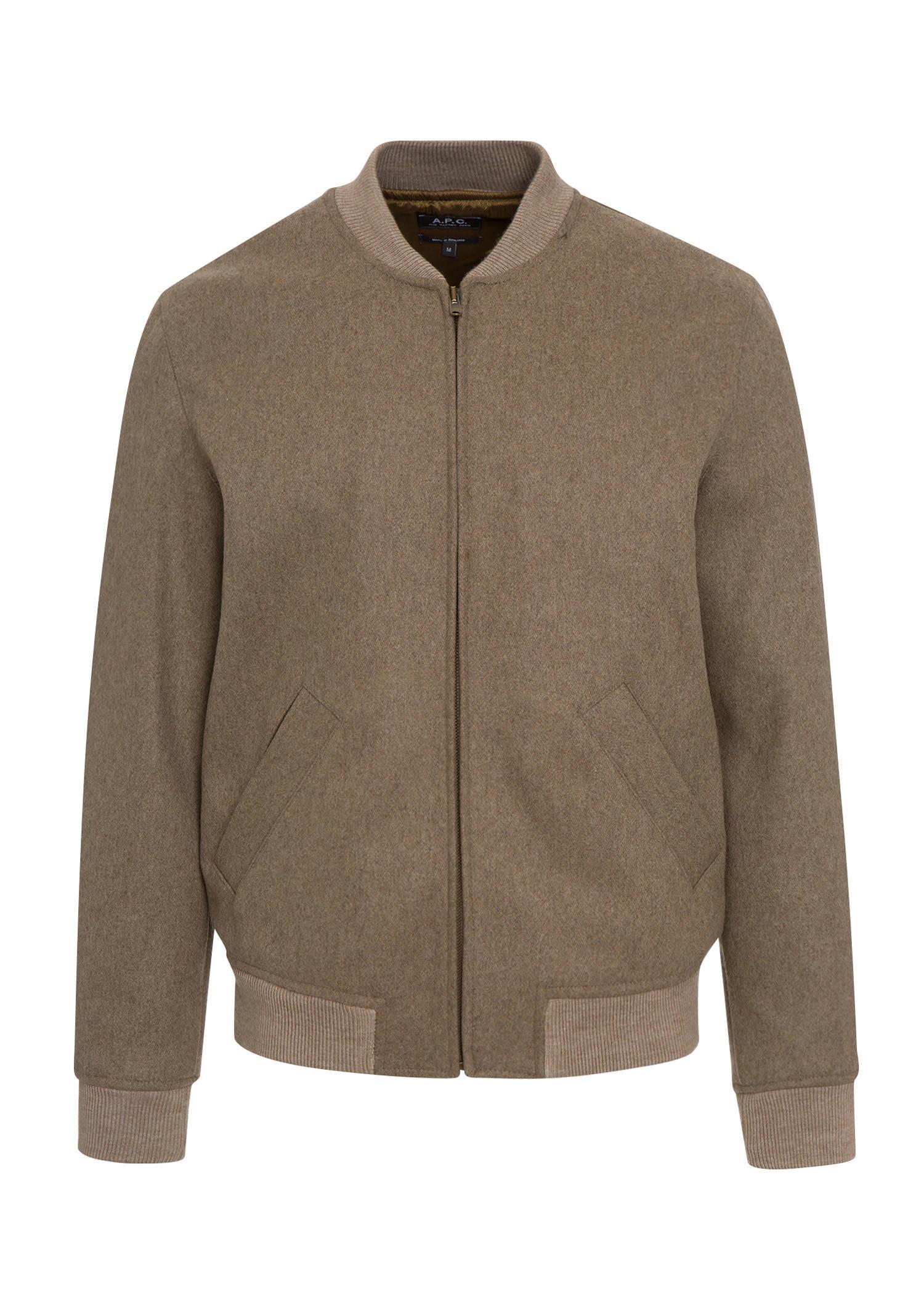 A.P.C. Gaston Jacket In Heathered Beige