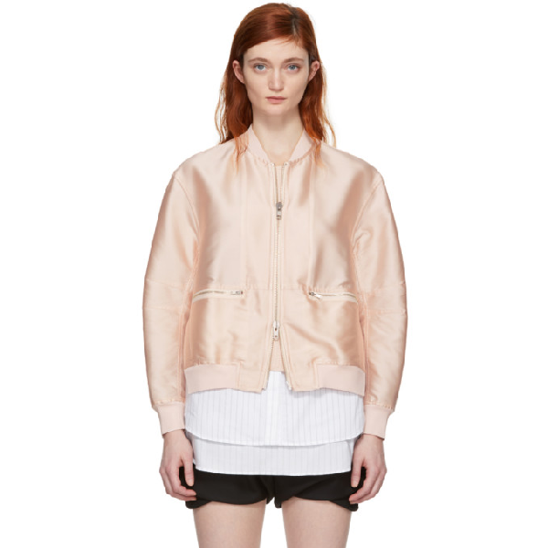 3.1 Phillip Lim Leather Moto Jacket In Pe652 Pink