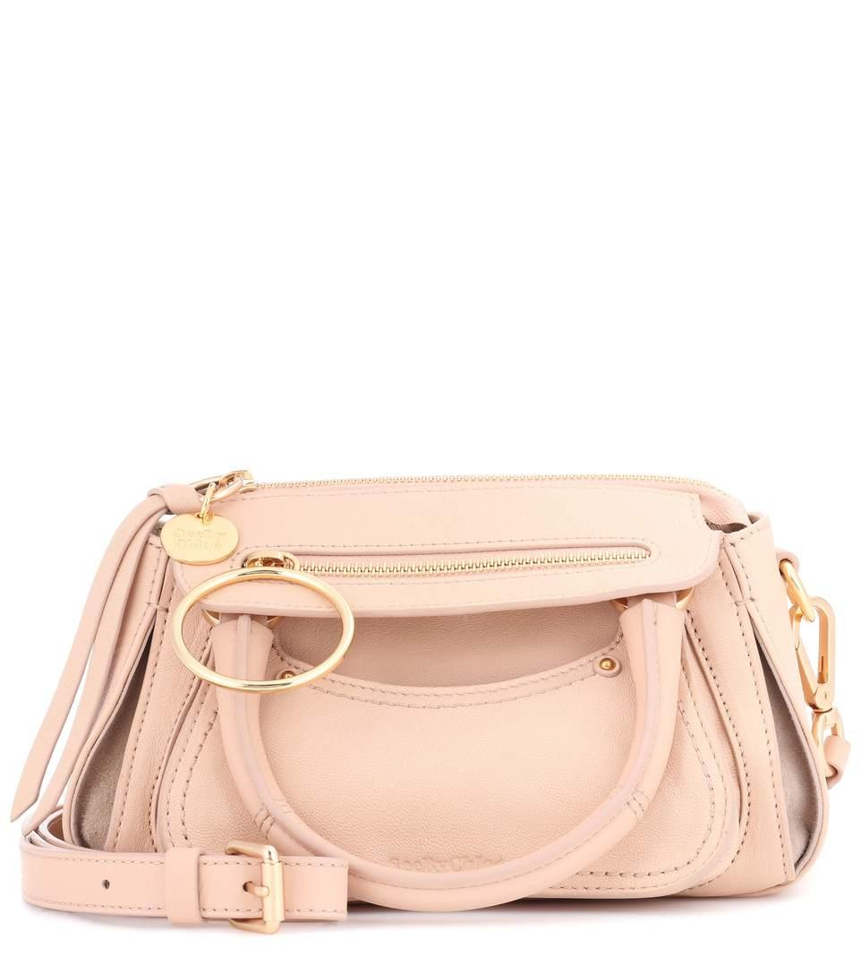See By ChloÉ Miya Mini Leather Shoulder Bag In Eude