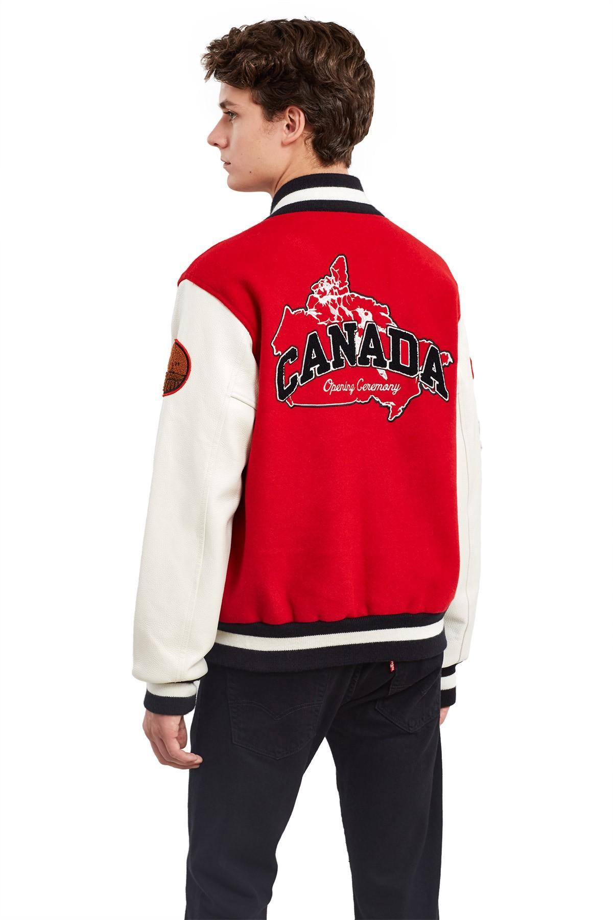 Opening Ceremony Canada Varsity Jacket In Red Multi