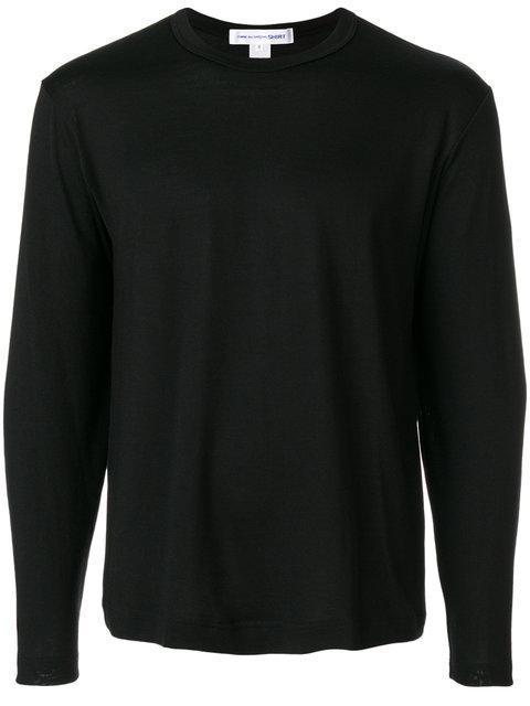 Comme Des GarÇOns Shirt Comme Des Garcons Shirt Navy Forever Basic Long Sleeve T-Shirt In Black