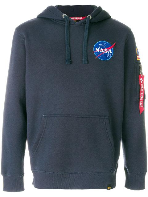 Alpha Industries Pocket Detail Nasa Hoodie