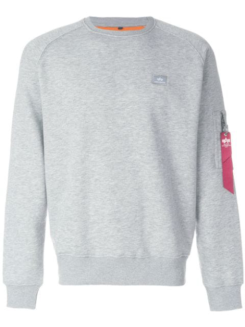 Alpha Industries Pocket Detail Sweatshirt - Grey