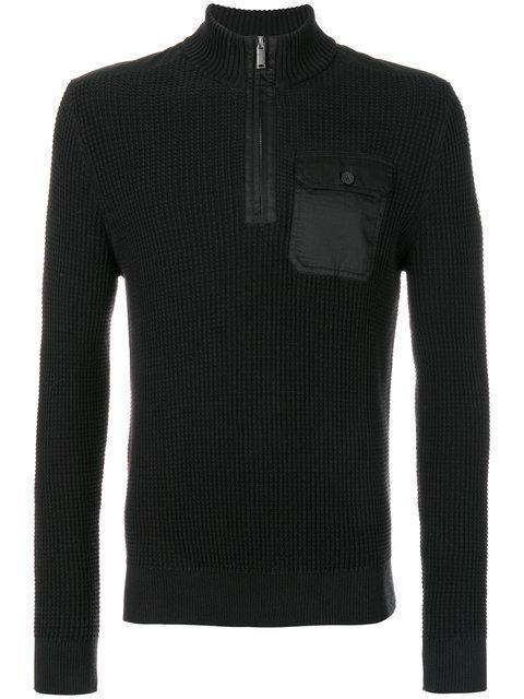 Michael Kors Zipped Collar Sweater