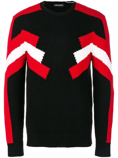 Neil Barrett Stripe Detail Sweater
