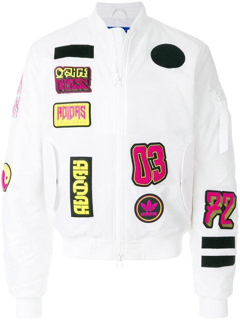 Adidas Originals Logo Patchwork Bomber Jacket