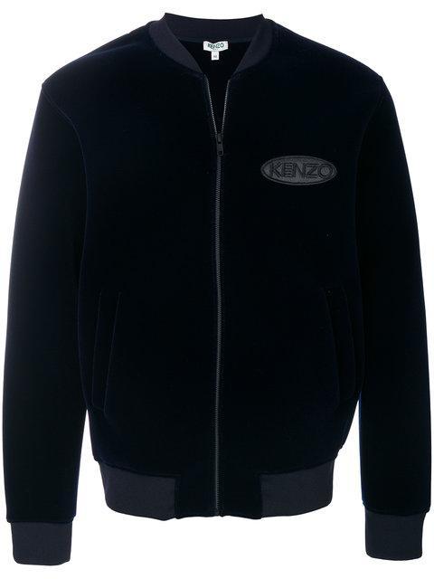 Kenzo Blue Velvet Bomber Jacket