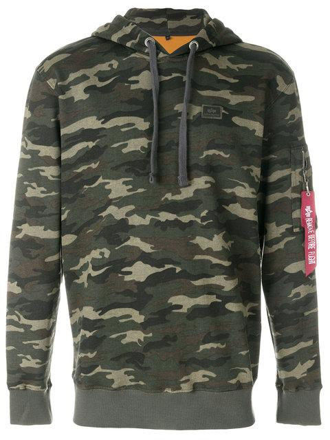 Alpha Industries Camouflage Pocket Detail Hoodie