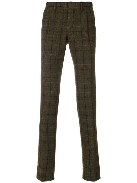 Incotex Checkered Print Tailored Trousers