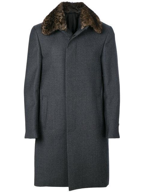 Fendi Leopard Print Collar Coat