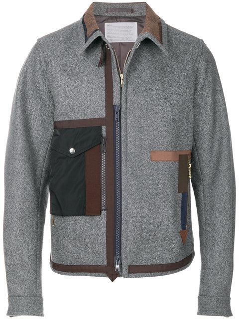 Kolor Fitted Flap Pocket Jacket - Grey