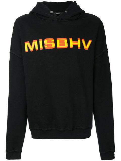 Misbhv Black Protection Logo Hoodie
