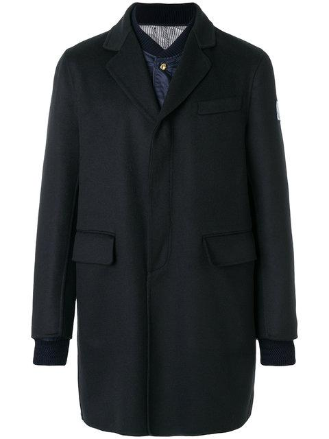 Moncler Gamme Bleu Moncler Chester Coat With Padded Jacket Insert - Blue