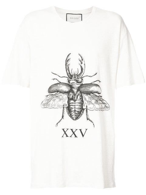 Gucci Beetle Print T-Shirt