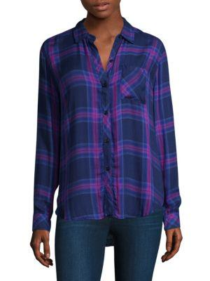 Rails Taitum Plaid Shirt In Navy Ultraviolet