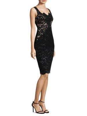 Black Halo Valentine Sheath Dress In La Pedrera
