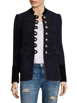 Free People Seamed And Structured Jacket In Navy