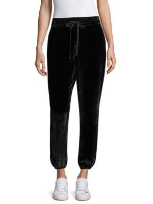 Current Elliott Eden Velvet Sweatpants In Black