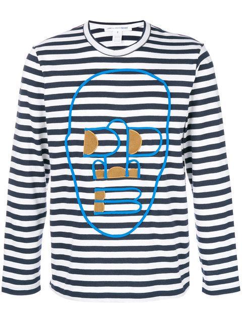 Comme Des GarÇOns Shirt Striped Sweatshirt