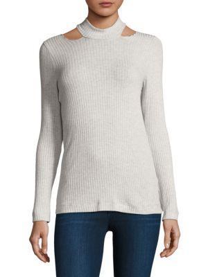Splendid Shoulder Sweatshirt In Pink Beige