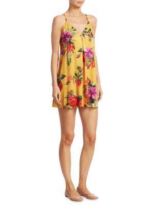 Alice And Olivia Fierra Tank Dress In Sunflower Multi