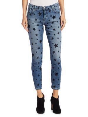 Current Elliott The Stilt Flocked Star Jeans