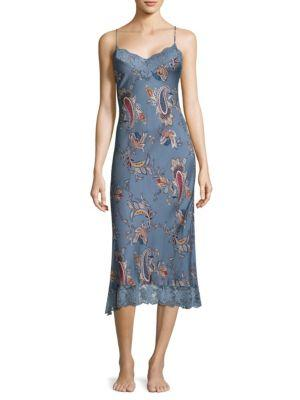 Jonquil Paisley Sheath Dress In Steal Blue
