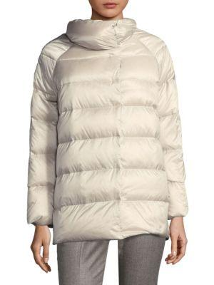 Peserico Cocoon Puffer Jacket In Sand