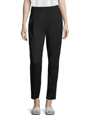 Vince Pleated Track Trousers In Black