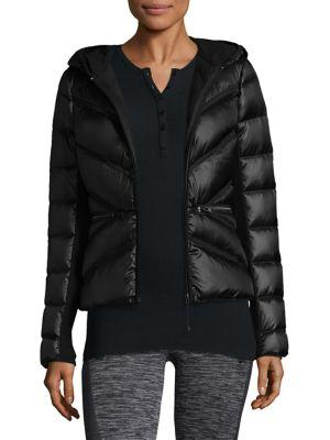Blanc Noir Quilted Puffer Jacket In Black
