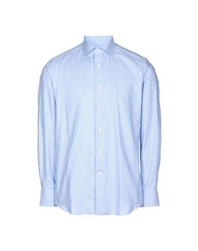 Canali Patterned Shirt In Sky Blue