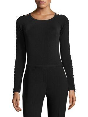 Elie Tahari Samra Bodysuit In Black
