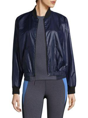 Heroine Sport Windbreaker Bomber Jacket In Navy-Black
