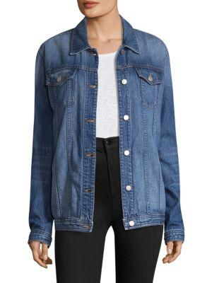 J Brand Cyra Oversized Denim Jacket In Mimic