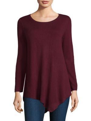 Joie Tambrel Asymmetrical Wool & Cashmere Sweater In Deep Verbena