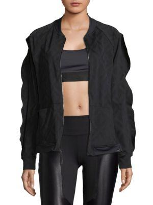 Koral Glance Bomber Jacket In Black Geo
