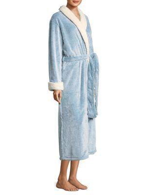 Natori Plush Robe In Light Blue