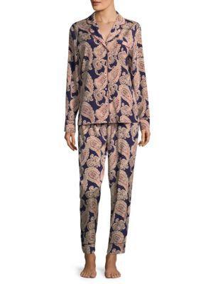 Stella Mccartney Poppy Snoozing Paisley Pajama Set In Paisley Print