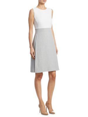 Akris A-Line Dress In Paper-Gravel