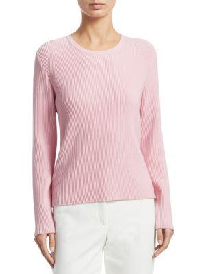 Akris Knit Wool & Silk Pullover In Water Lily