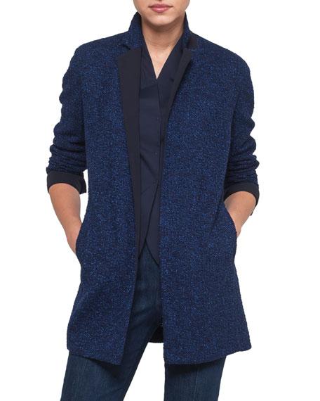 Akris Nastassia Boucle Tweed Jacket In Dark Blue