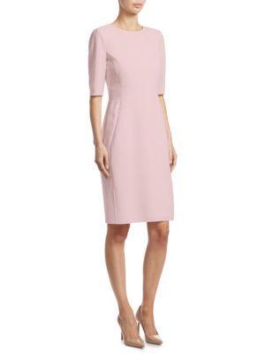 Akris Elbow Sleeve Dress In Pink