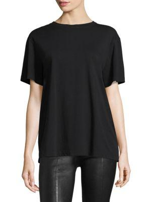 Helmut Lang Archive Jersey Cotton Tee In Black