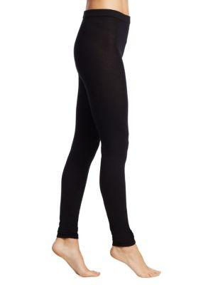 Rick Owens Footless Cashmere Tights In Black