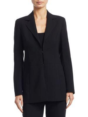 Akris O'Brian Long Sleeve Jacket In Black