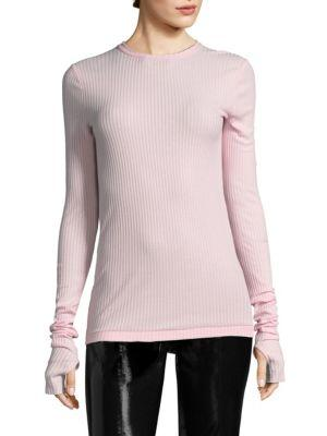 Helmut Lang Variegated Cotton Sweater In Hortensia